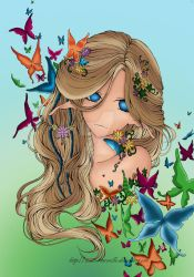 Colored! Butterfly Dream by Aurorella by Mythoria