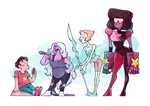 Crystal Gems taking a break by InsaneNudl
