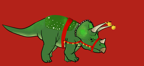 merry christmaceratops by Tagath
