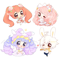 Finished YCH Mini Chibis by Valyriana