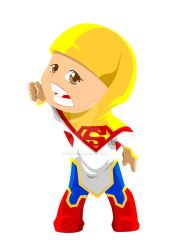 supergirl ? this is azka my daughter by waloehcomic
