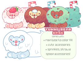 p2u base - yummy bears! psd + ms paint friendly! by blushbun