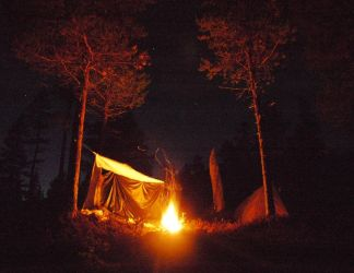 Camping in Borgefjell by Mycelius
