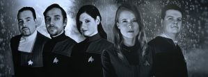 Star Trek Crew Black and White by Euderion