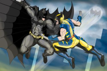 Batman V Wolverine by darlinginc