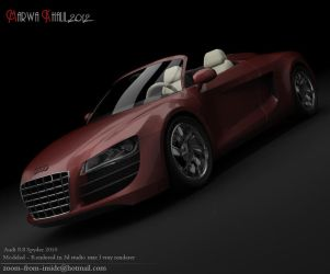 Audi r8 spyder (my first) by zoom-from-inside