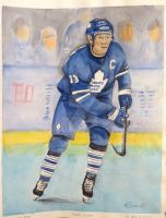 Mats Sundin Watercolour by Schnellart