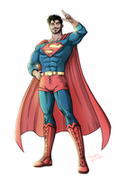 Superman Reimagined Commission by LucianoVecchio