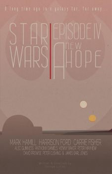 Star Wars: Episode IV A New Hope minimalist style by stuckart