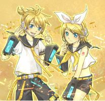 Kagamine Twins by Annciel