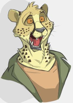 This cheetah has many questions by secoh2000