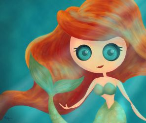 mermaid by chuckTHEchick