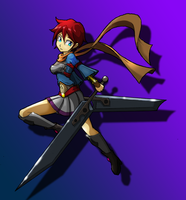 Dual sword girl by G4MM43T4
