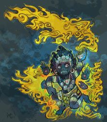 cute mahakala by snail-lady
