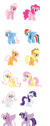 Mlp Other Manes For The Mane 6 by flashwingfox