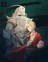 Before the dawn - Fullmetal Alchemist Fan Art by Suri-Mice