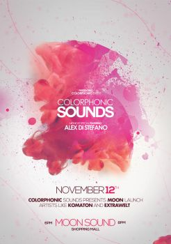 Colorphonic Sounds Poster Flyer by DusskDeejay