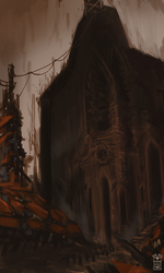 Hidden Cathedral by Hydraw-Art
