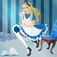 Elena in Wonderland by HannahDoma