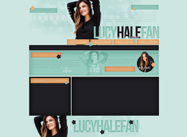 Lucy Hale Free Layout by lenkamason