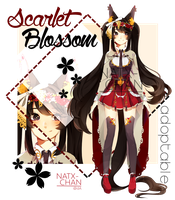 [CLOSED] Scarlet Blossom adoptable by Natx-chan