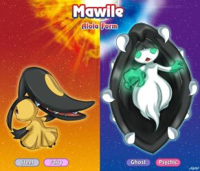 Mawile and Alola Mawile by FenRox