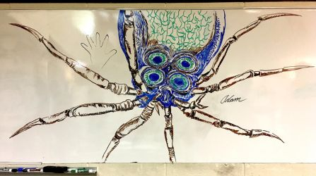 SUBNAUTICA: Crabsquid (on a whiteboard) by Adam-The-Person
