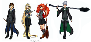The Big Four: Hogwarts AU by YukiHyo