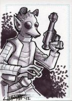 Greedo Sketchcard by stratosmacca