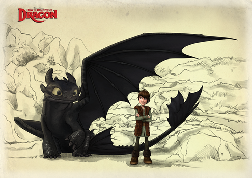 Toothless and Hiccup_FIN by Fennethianell