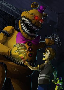FNAF 4 - Fredbear Encounter by LadyFiszi