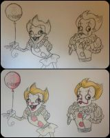 Pennywise doodles by Zora-Steam