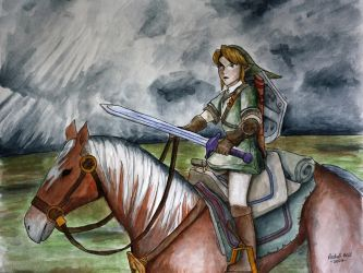 Link and Epona 2 by herbalcell
