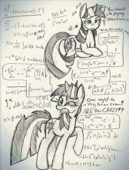 Math and ponies. by Bluetooth-ArtPony