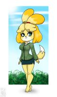 Isabelle Animal Crossing by haloowl