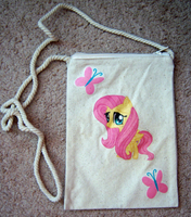 Fluttershy Chibi Iron-On Purse on a String Bag by IcyPanther1