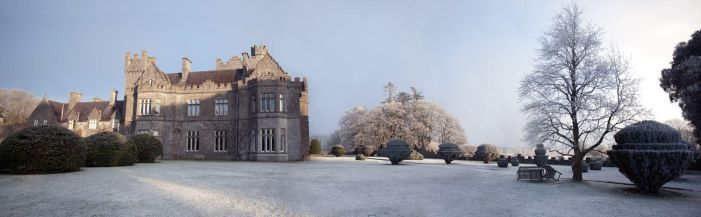 Gurteen Castle in the Winter 2 by Cyril-Helnwein