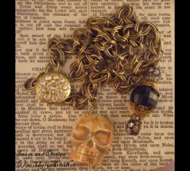 Tarnished Golden Year necklace by uglyshyla