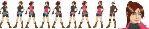 My Ideal Design for Resident Evil 2 Remake Claire by RubyofBlue