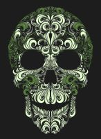 the traditional pattern. skull. by Max-13-Tulmes