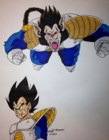 Vegeta and his giant monkey..... FORM by gokujr96