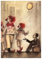 clowns by Slawekgruca