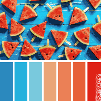 Blue Red Summer Swatches by youryeojachingu