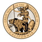 Great Seal of the Republic of California (Colored) by SouthParkTaoist