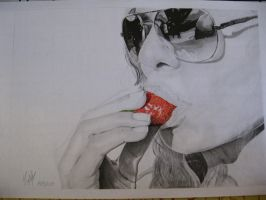 Strawberry Drawing by Rate19