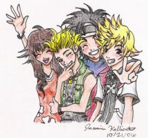 KH - Twilight Town Group by Yahiko-chan