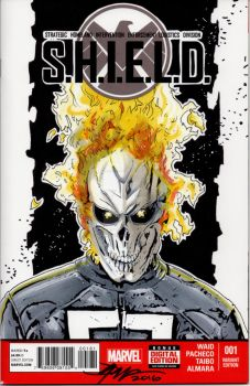 Agents of S.H.I.E.L.D Ghost Rider Sketch Cover by sullivanillustration