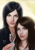 Faith and Lenne by shuangwen