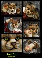 Sand Cat head and paws by stuffedpanda-cosplay