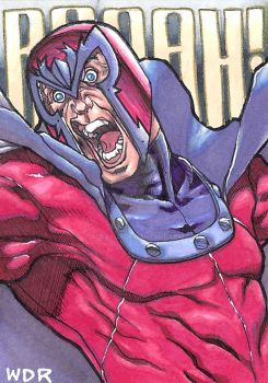 aceo Magneto sketch card for sale by aurielus
